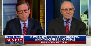 Chris Wallace Confronts Dershowitz On Shifting Stance On High Crimes Being Necessary For Impeachment