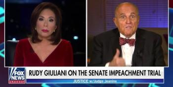 Giuliani Tries To Promote His OANN Show On Fox; Pirro Laughs Nervously