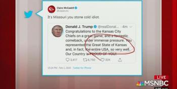 Claire McCaskill Calls Trump A 'Stone Cold Idiot' After He Congratulates Kansas' Super Bowl Win