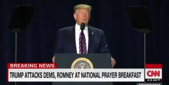 Trump Rejects That Whole 'Love Your Enemies' Thing At Prayer Breakfast