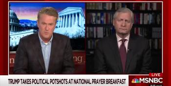 Scarborough Appalled At Trump's Prayer Breakfast Performance