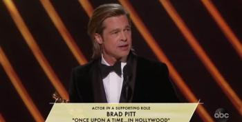 Brad Pitt Pokes The Republican Senate At Oscars; Fox And Friends Flips Out