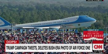 Trump Campaign Tweets, Deletes Bush-Era Photo Of Air Force One