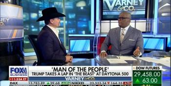 Fox Business Host Gushes Over 'Man Of The People' Trump Taking Lap At NASCAR