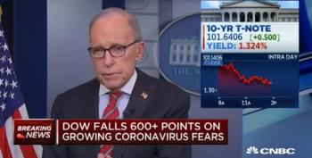 Larry Kudlow Lies His Face Off About Coronavirus Being 'Contained'