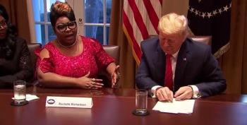 In Midst Of Two Crises, Trump Meets With Diamond And Silk