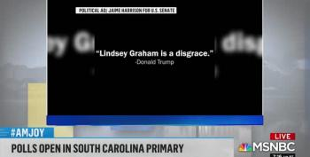 New Jaime Harrison Ad Hammers Lindsey Graham, And Trump Does All The Talking