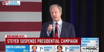 Tom Steyer Suspends His Campaign