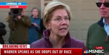 Warren Suspends Campaign UPDATED With Video Of Her Statement