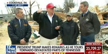Empathy-Free Trump Visits Tornado-Ravaged Tennessee In Full MAGA Gear