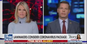 Eric Swalwell Points Out Trump's Lies, Fox Hostess Lectures Him On 'Unifying The Country'