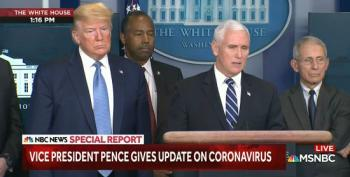 During WH Pandemic Briefing, VP And Fake Pastor Pence Reminds Us To Give Our Money To Churches