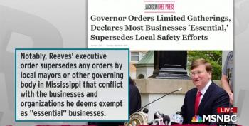 Rachel Maddow Eviscerates Mississippi Governor For Overriding Mayors' Stay-At-Home Orders