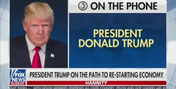 Trump To Hannity: 'I Don't Believe You Need 40,000 Or 30,000 Ventilators'