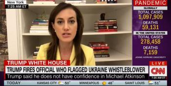 Vengeful Trump Fires Inspector General Who Greenlit Ukraine Whistleblower Complaint