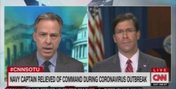 Tapper Grills Def Sec Esper On Removal Navy Captain Who Raised Alarm On COVID-19 Outbreak