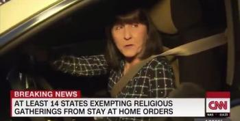 Ohio Churchgoer Tells CNN She Can't Get Sick Because She's Christian