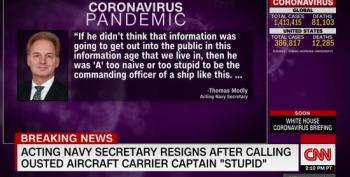 Acting Secretary Of The Navy Resigns After Calling Ousted Aircraft Carrier Captain 'Stupid'