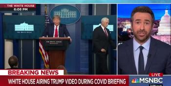MSNBC Cuts Away After Trump Uses Pandemic Presser To Air Taxpayer Funded Propaganda Film