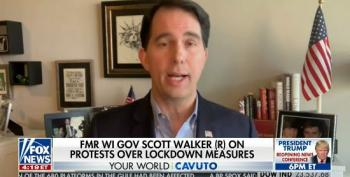 Scott Walker Accuses Governors Continuing Coronavirus Restrictions Of Being 'Power-Hungry'