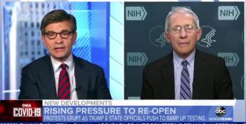 Anthony Fauci: Protesters Ignoring Stay At Home Orders Is 'Going To Backfire'