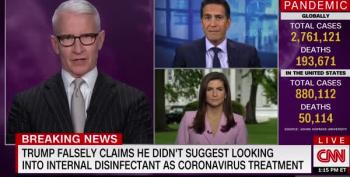 CNN Calls BS On Trump Claim His Disinfectant Injection Rec Was 'Sarcasm'