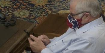 State Senator Explains Questionable Mask