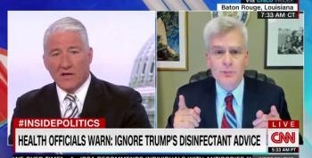 John King Fact Checks GOP Senator Who Claims No One Took Trump's Disinfectant Advice Seriously