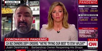 Brooke Baldwin Beats Down Barber Defying Stay-At-Home Order To Own The Libs