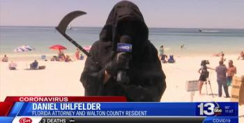 The Grim Reaper Welcomes Floridians Back To Their Beaches