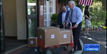 Jimmy Kimmel Catches Mike Pence Delivering Empty Boxes Of Medical Supplies