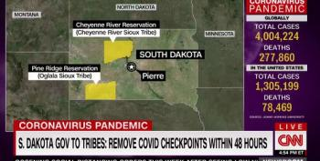 CNN: S. Dakota Gov. Demands Tribes Remove Coronavirus Checkpoints