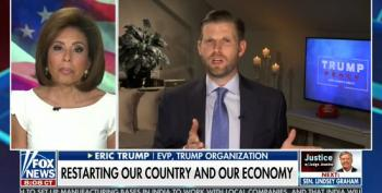 Eric Trump Calls Covid-19 A Conspiracy To Keep His Dad From Holding MAGA Rallies