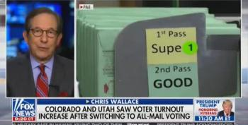 Chris Wallace Shreds Mail-in Voter Fraud Claims