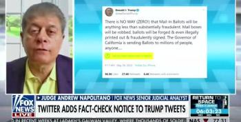 Judge Napolitano; 'I Will Defend To The Death' Twitter's Right To Fact Check Trump