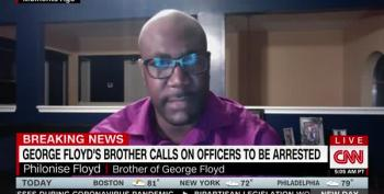 After Night Of Violence In Minneapolis, George Floyd's Brother Cries For Justice