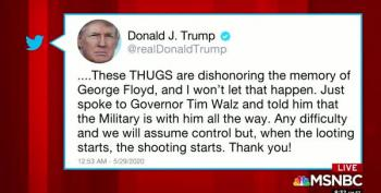 Trump Calls For Minneapolis 'Thugs' To Be Shot -- For Vandalism