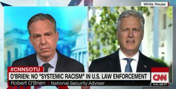 Robert O'Brien Denies There's Systemic Racism In Law Enforcement