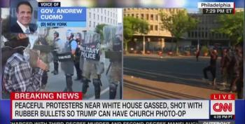 Peaceful Protesters Gassed So Trump Gets A Photo Op