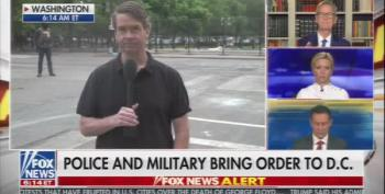Fox News Reporters Blame Peaceful Protesters For Getting Tear Gassed.
