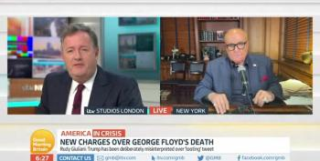 Rudy Giuliani Goes Barking Mad At Piers Morgan