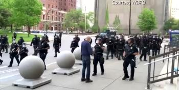 Buffalo Cops Shove Elderly Man To The Ground