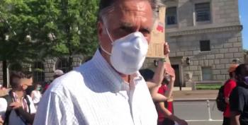 Mitt Romney Marches With 'Black Lives Matter' Protesters In Washington