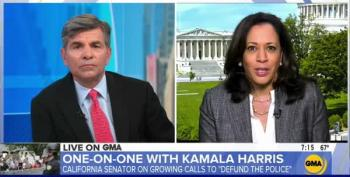Sen. Kamala Harris Responds To Trump's 'Defunding' Attack On Dems