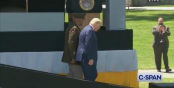 #TrumpIsNotWell Trends On Twitter After Video Shows Him Struggling To Walk Down Ramp