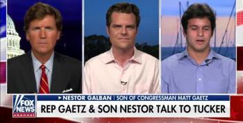 Matt Gaetz Uses Faux 'Son' As A Prop On Tucker Carlson