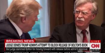 More Bad News For Trump: Federal Judge Rules To Bolton's Book Can Be Released