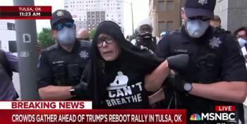 Tulsa Police Arrest Trump Rally Protester