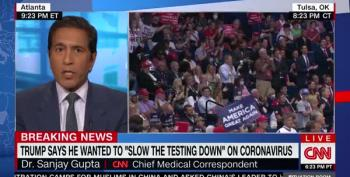 Sanjay Gupta Reacts To Trump's Call To Slow Down Testing For COVID-19