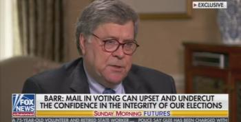 Bill Barr Makes Up Brand New Conspiracy Theory About Mail-In Ballots